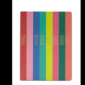 Colorful striped notebook